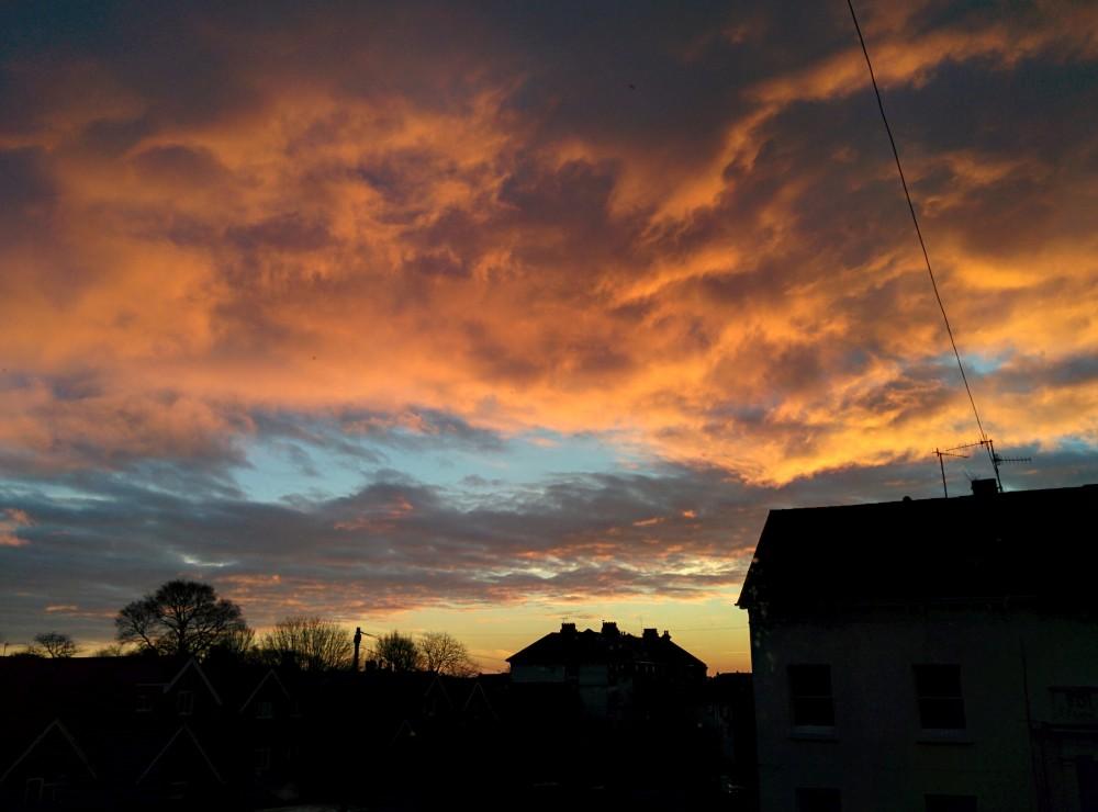 January sunrise in Eastbourne