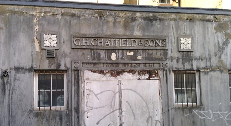 Chatfield & sons - graffiti on an Eastbourne backstreet