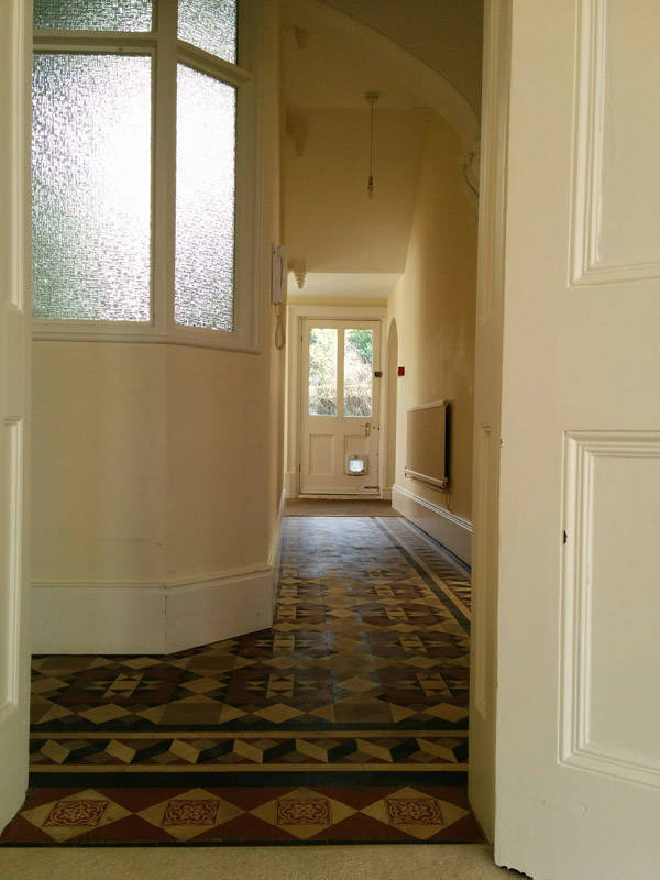 The hallway on Completion Day