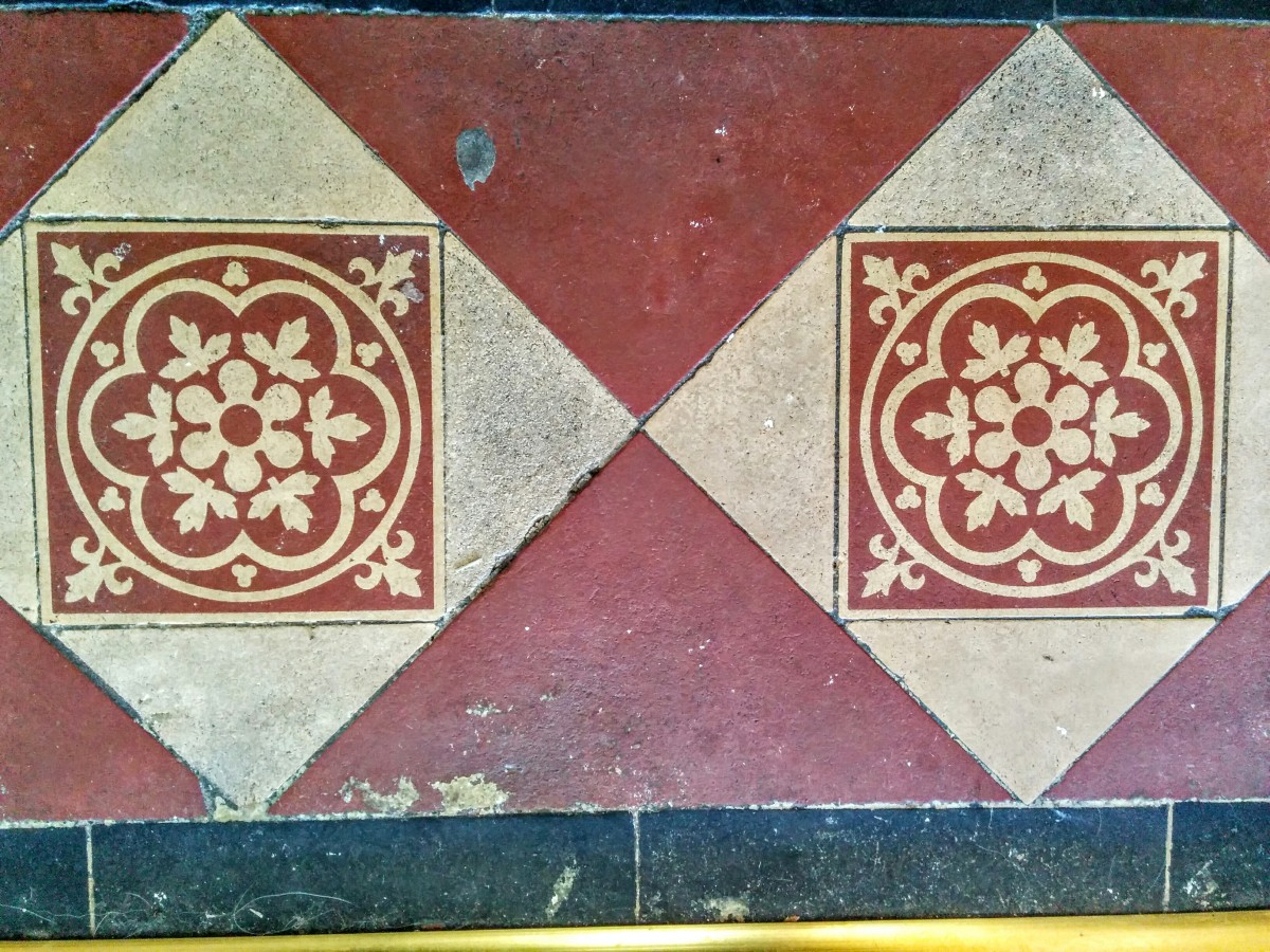 Victorian hall tiles detail - Eastbourne Diary
