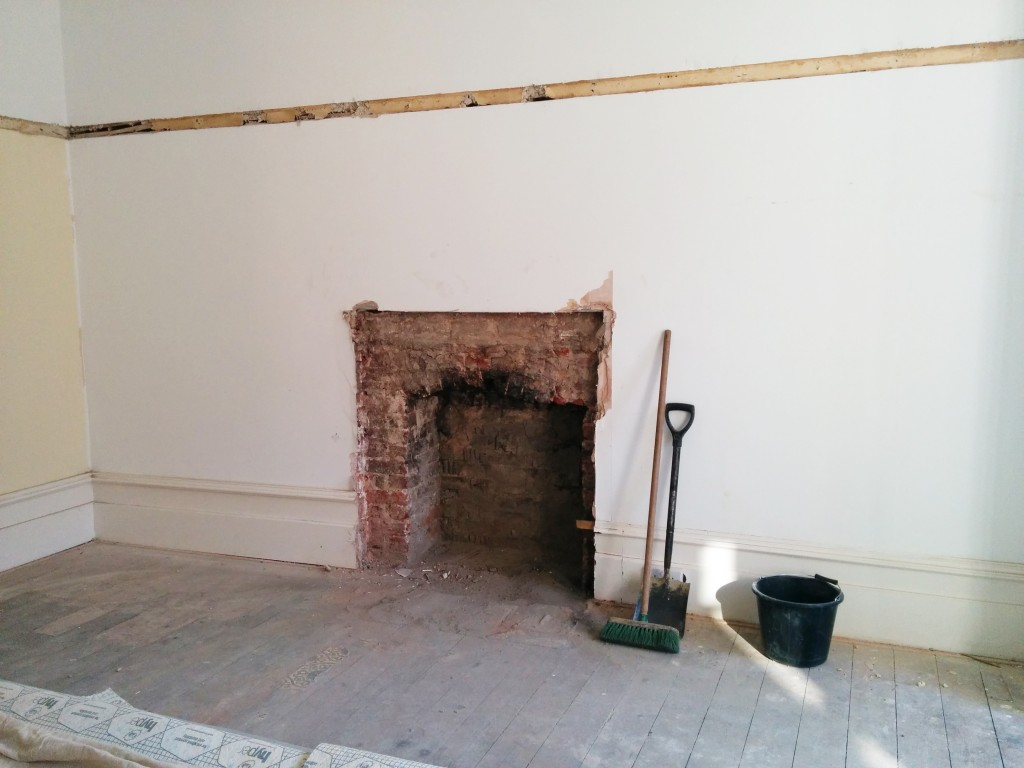 Fireplace gone ... now for some making good