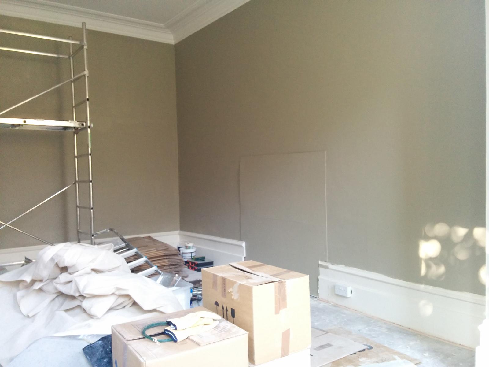 Living room, Farrow & Ball Light Grey walls