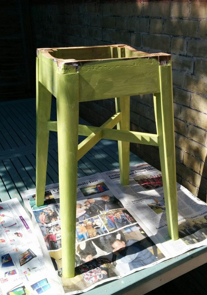 Kitchen stool first top coat