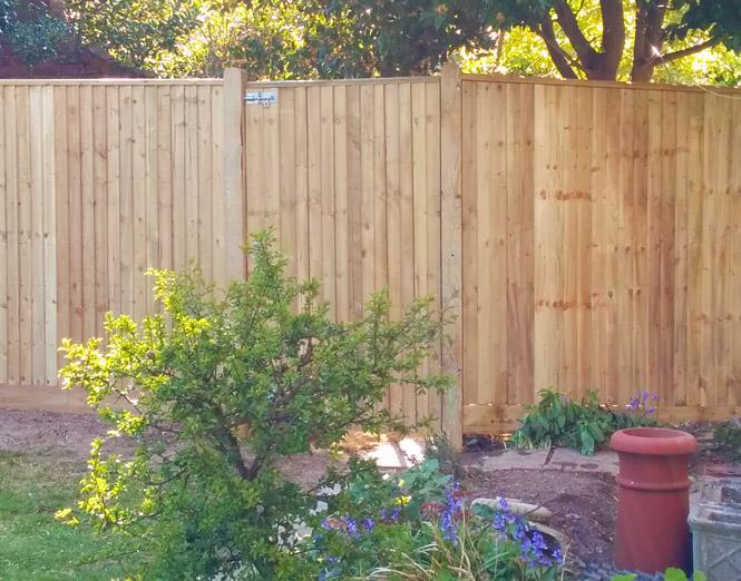 New back garden fence