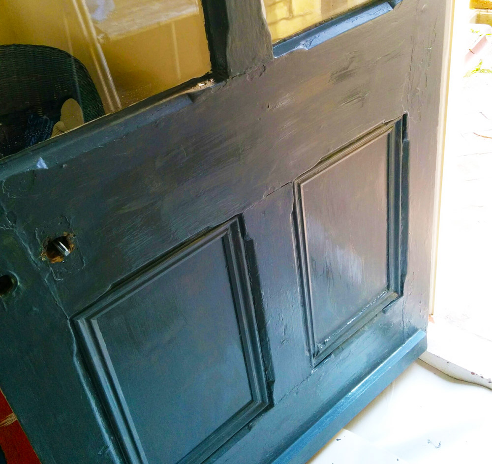 backdoor exterior in Farrow & Ball Inchyra blue
