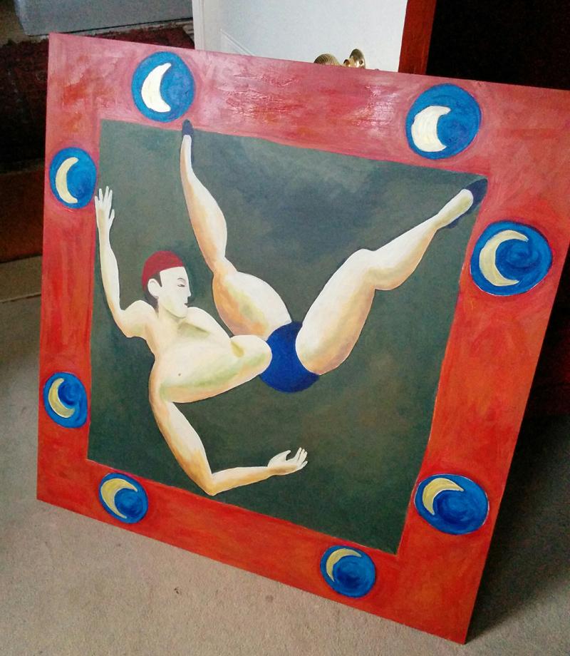 copy of Duncan Grant Acrobat painting - 3