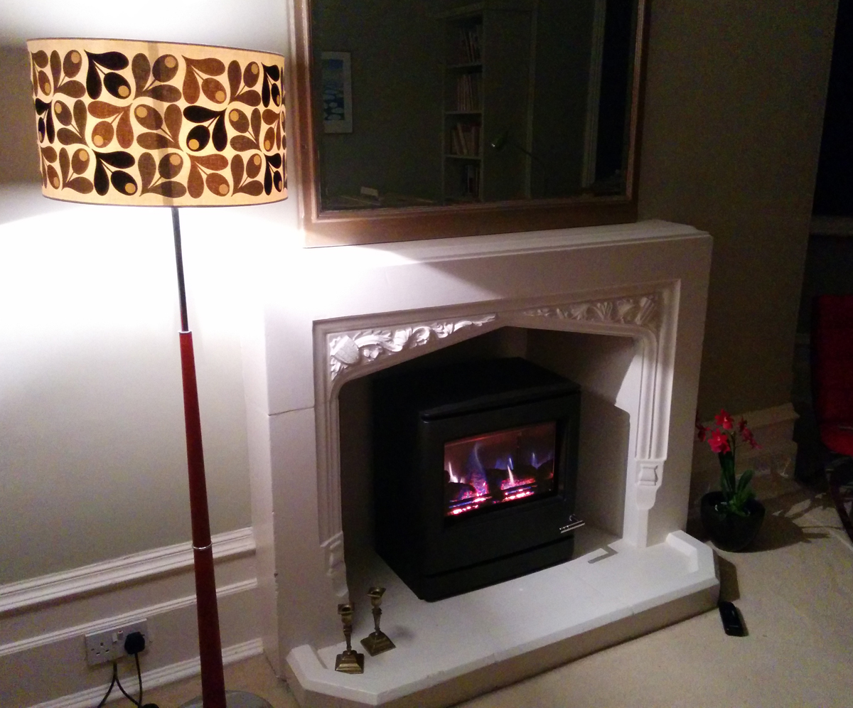 Music room - new gas fire