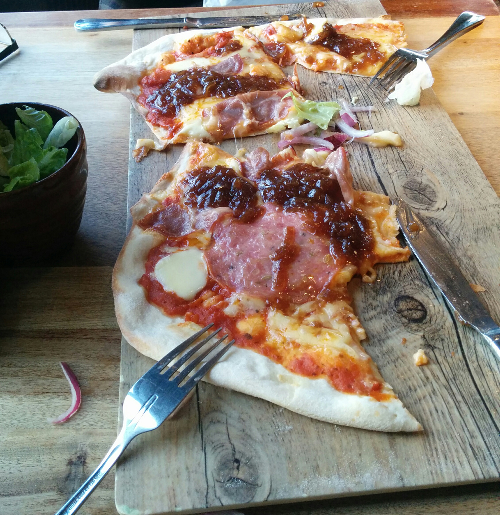 pizza at the Beachy Head Inn