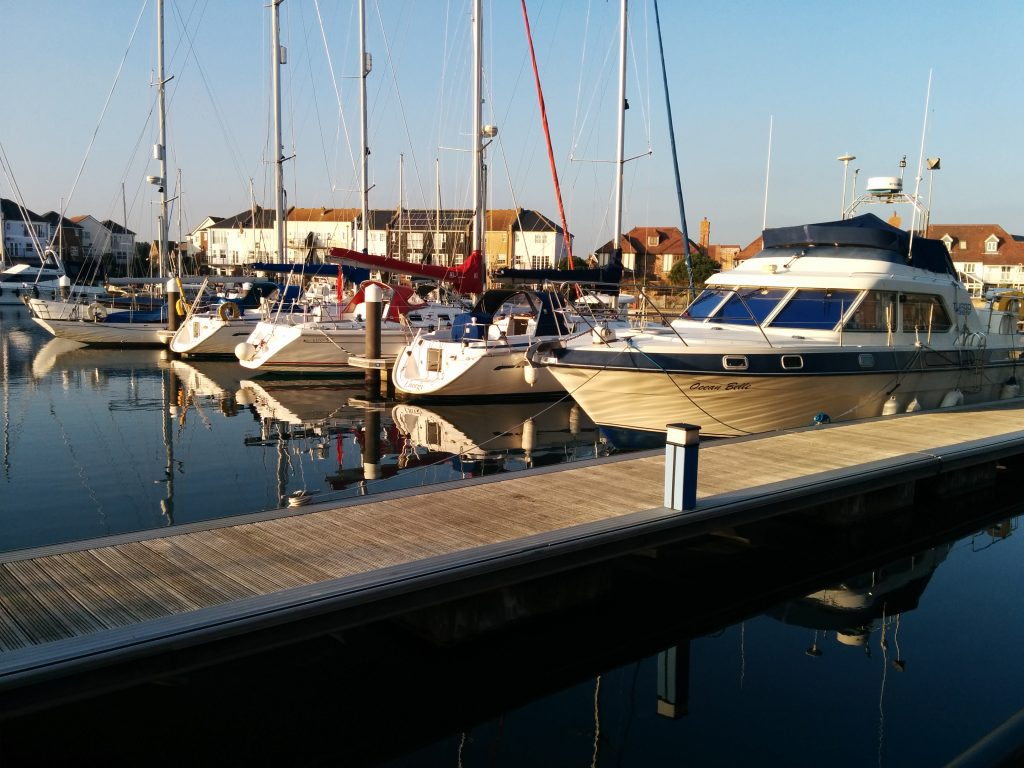 Boats at Sovereign Harbour