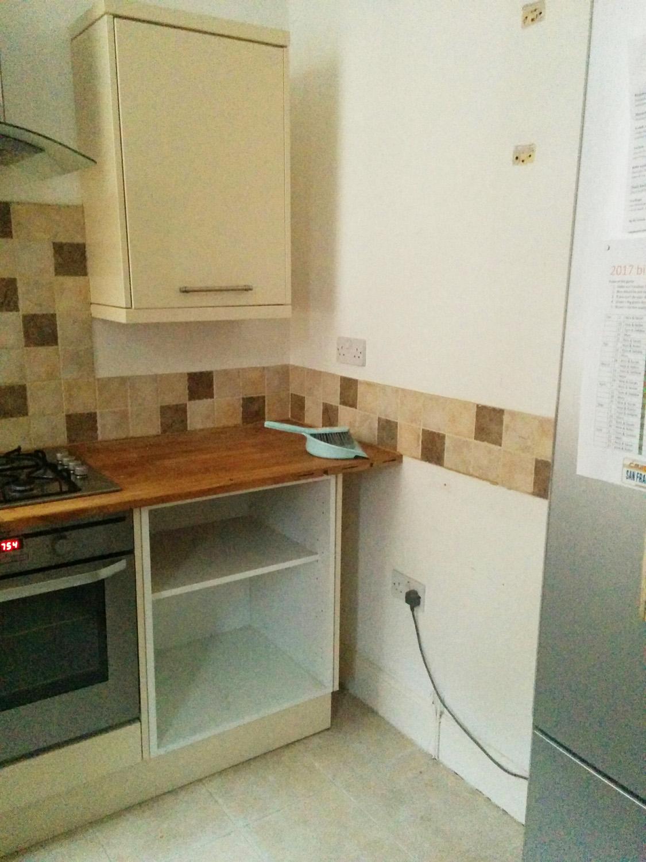 Before reno - right hand corner of kitchen