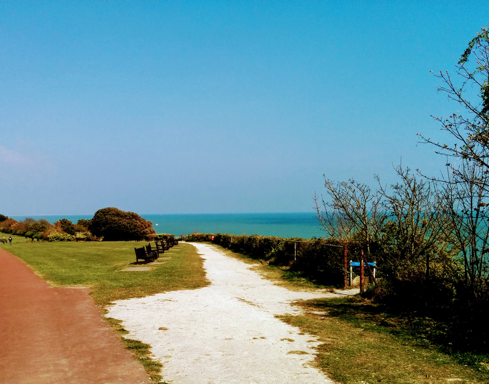 path above Holywell - An Eastbourne Diary