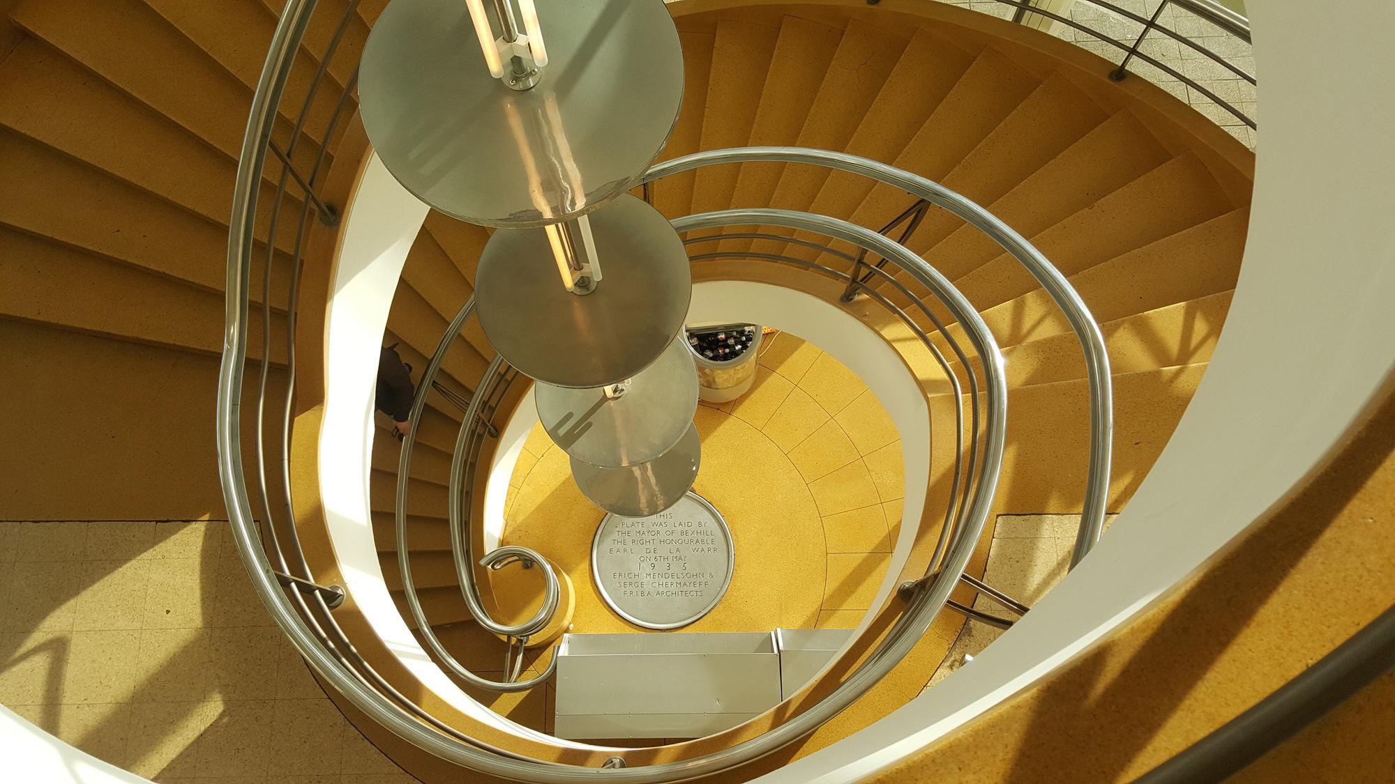 De La Warr Pavilion - stairwell