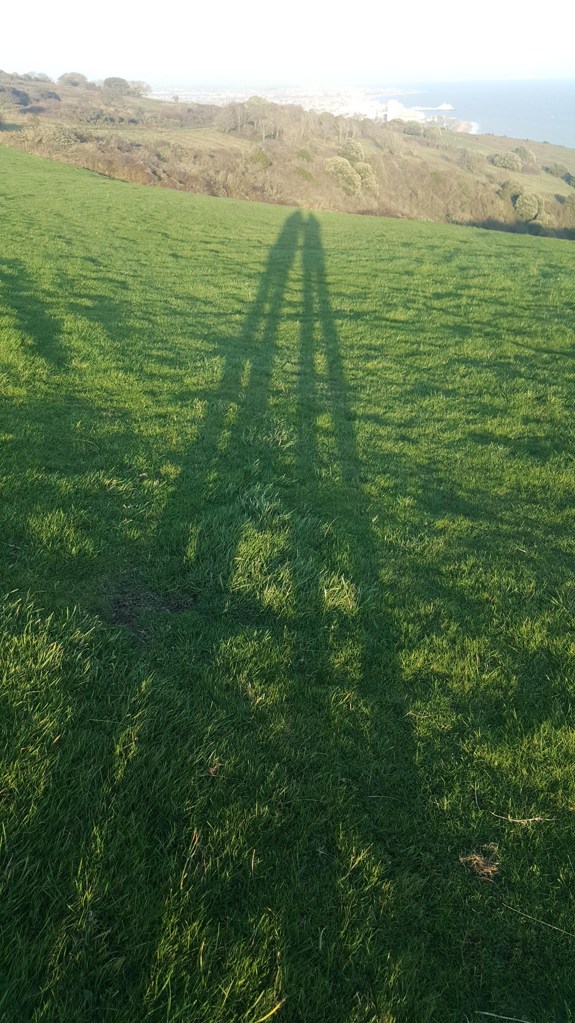 long legs shadows