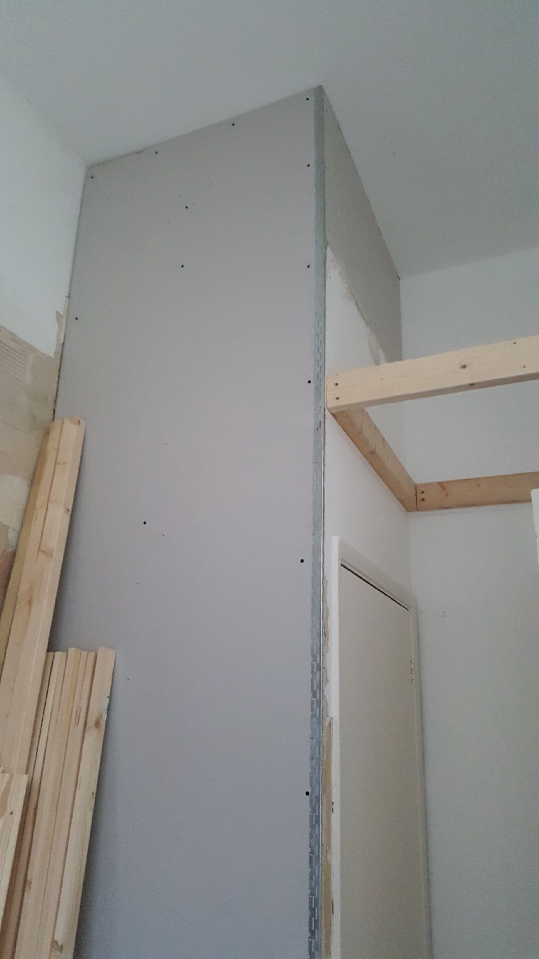 Over-door storage starts to take shape