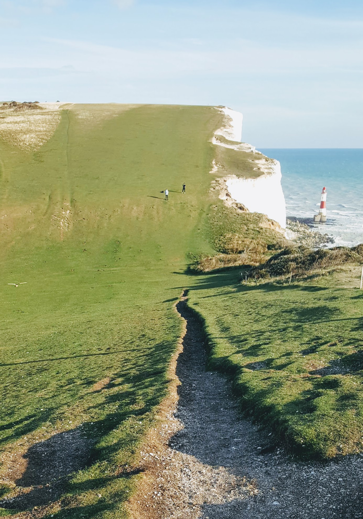 beachy head & lighthouse with footpath