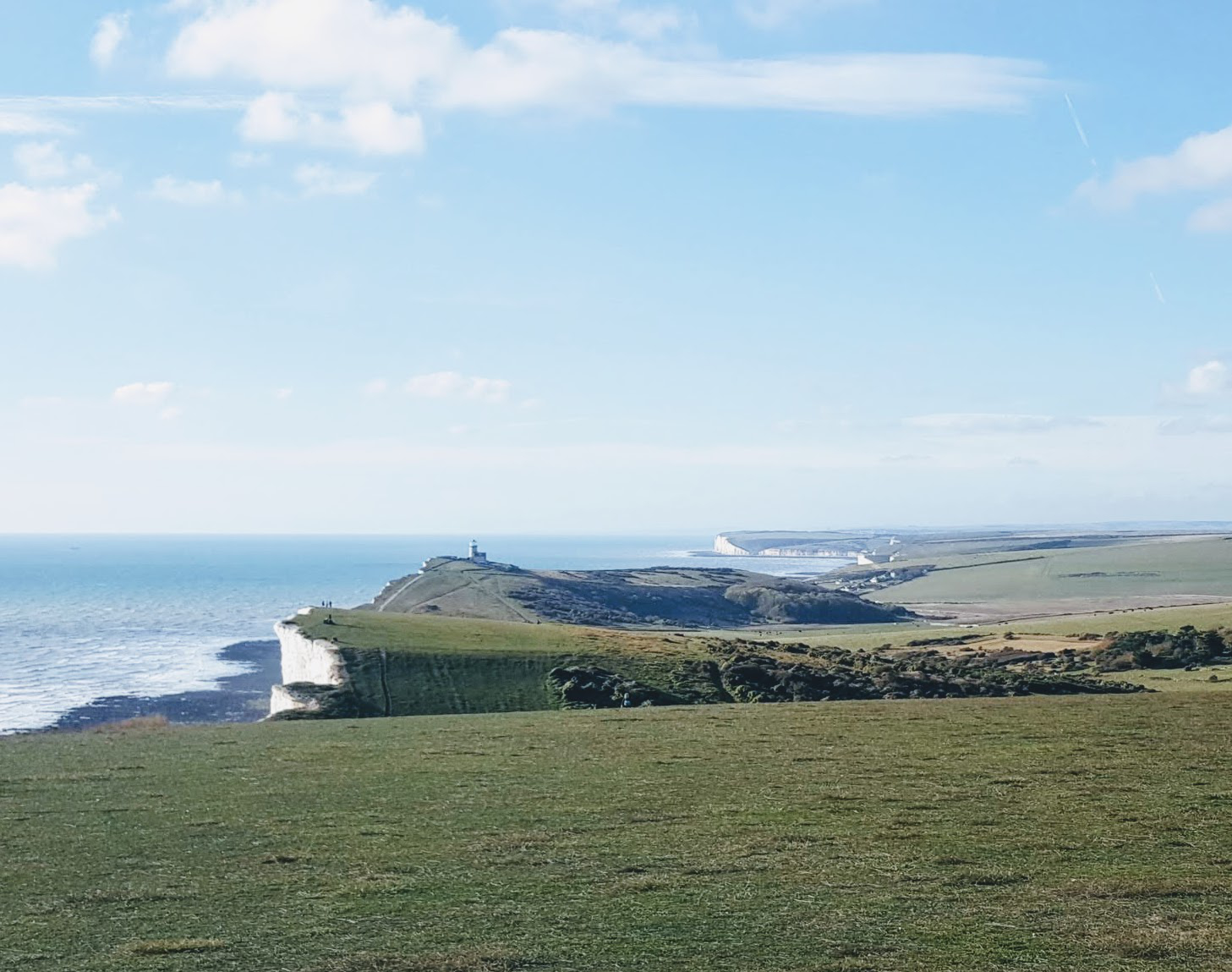 view back from beachy head