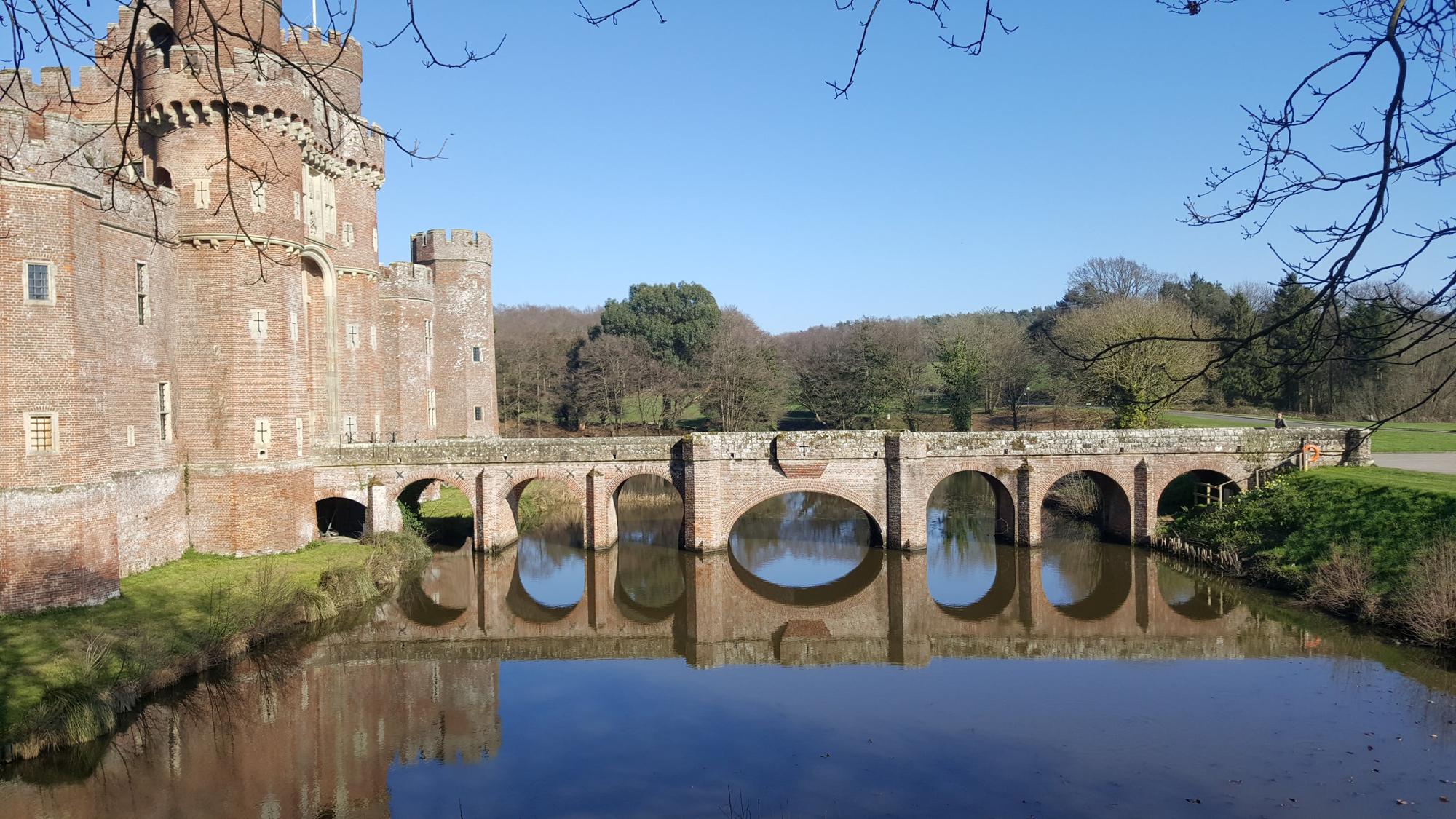 Herstmonceux Castle moat