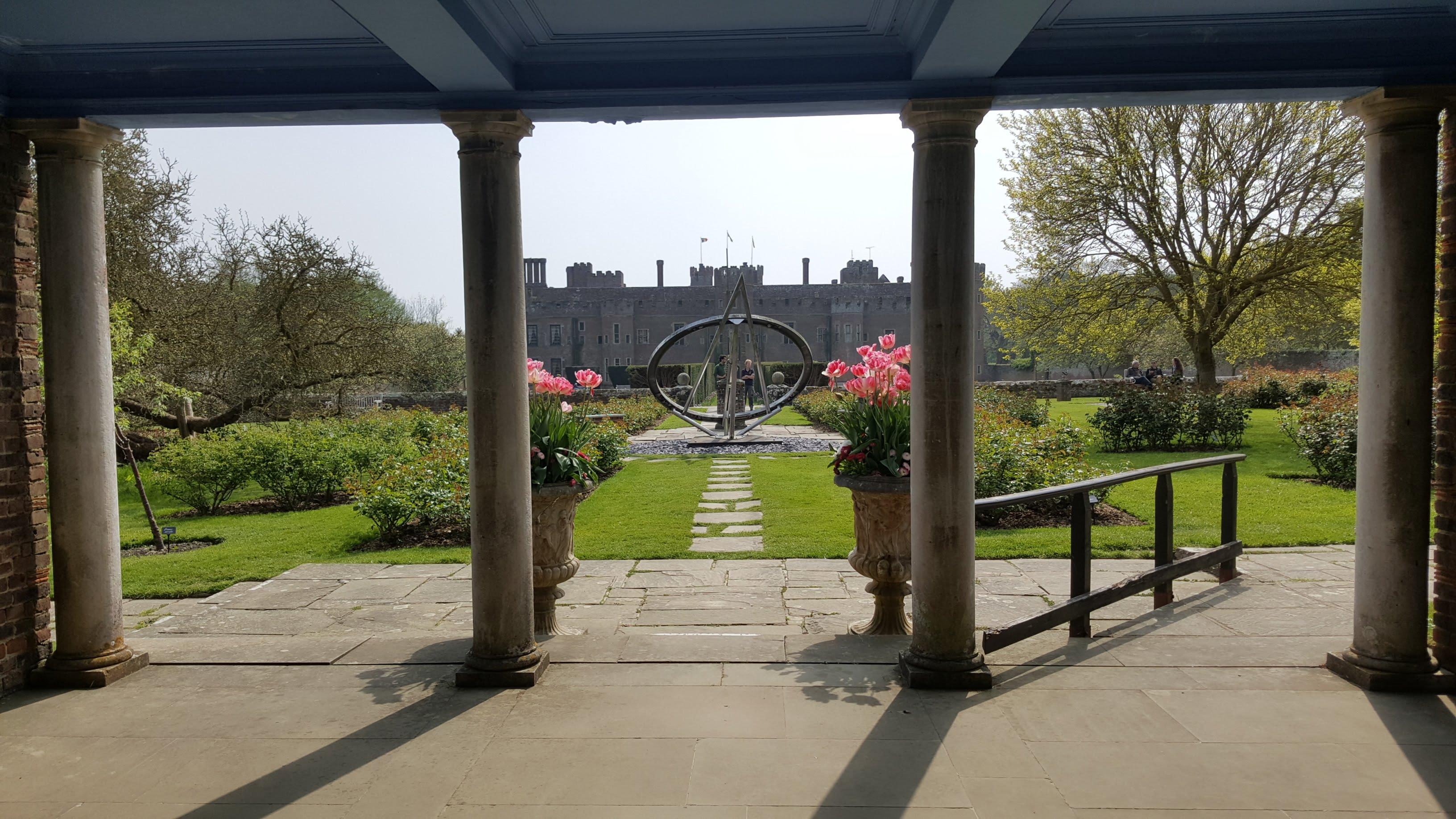 vista of Herstmonceux Castle