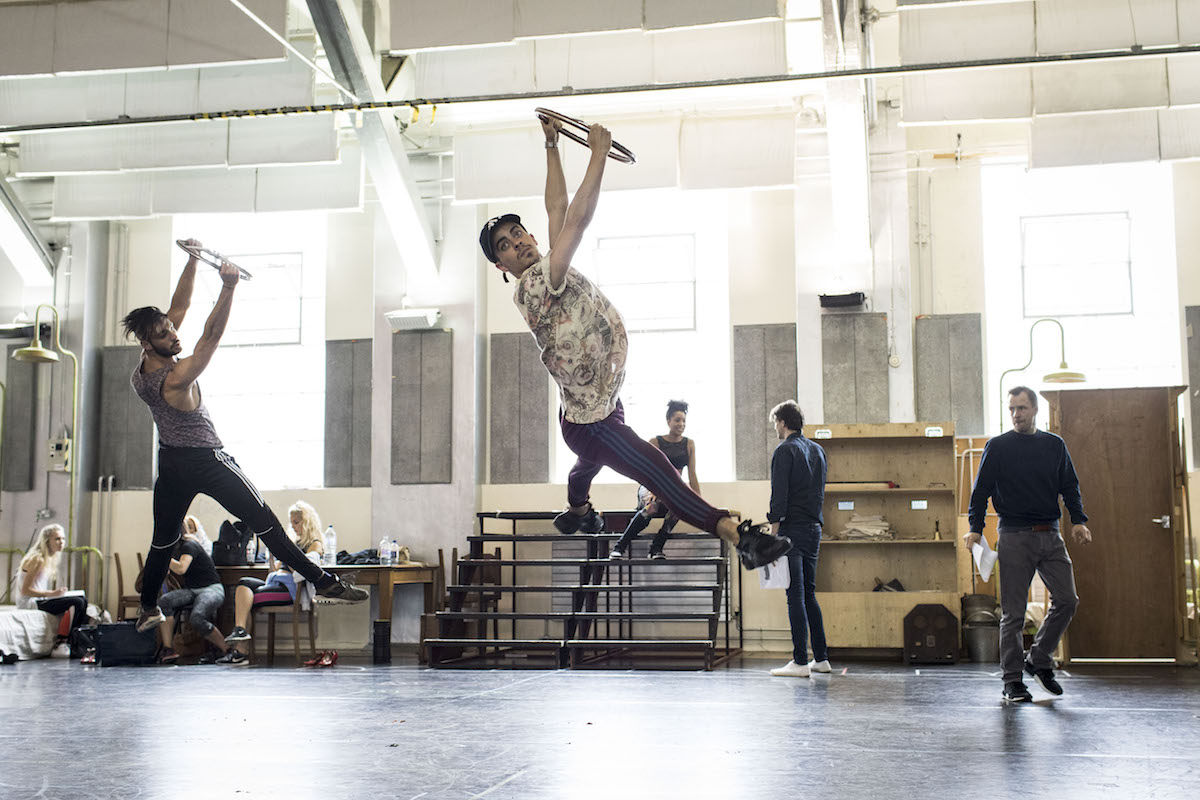 Dancers in rehearsals for Annie