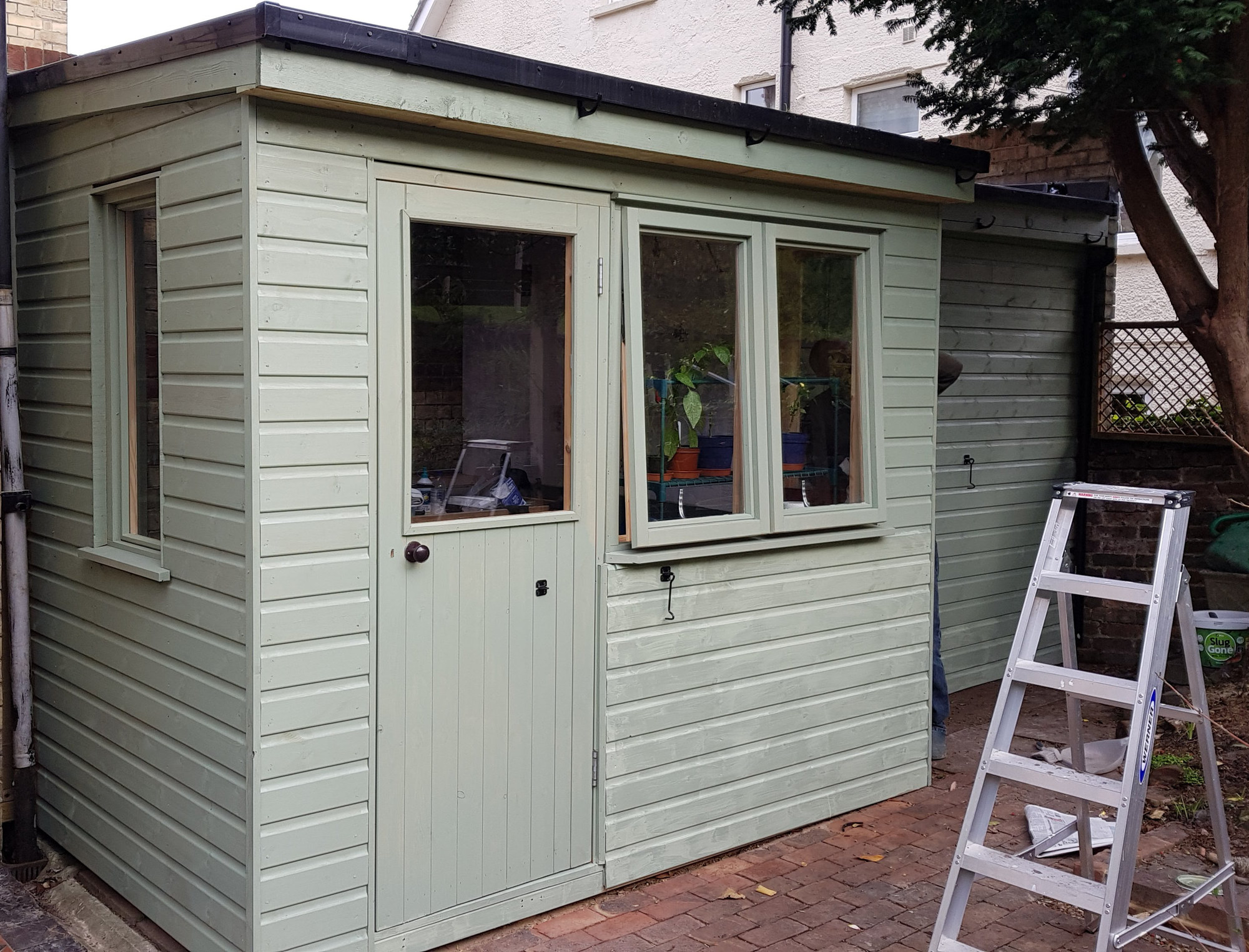 sheds exterior painted