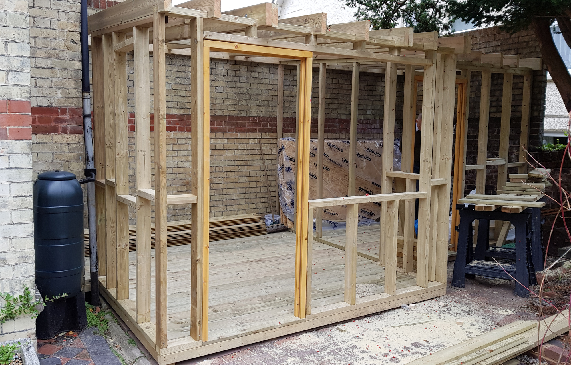 framework of new potting shed