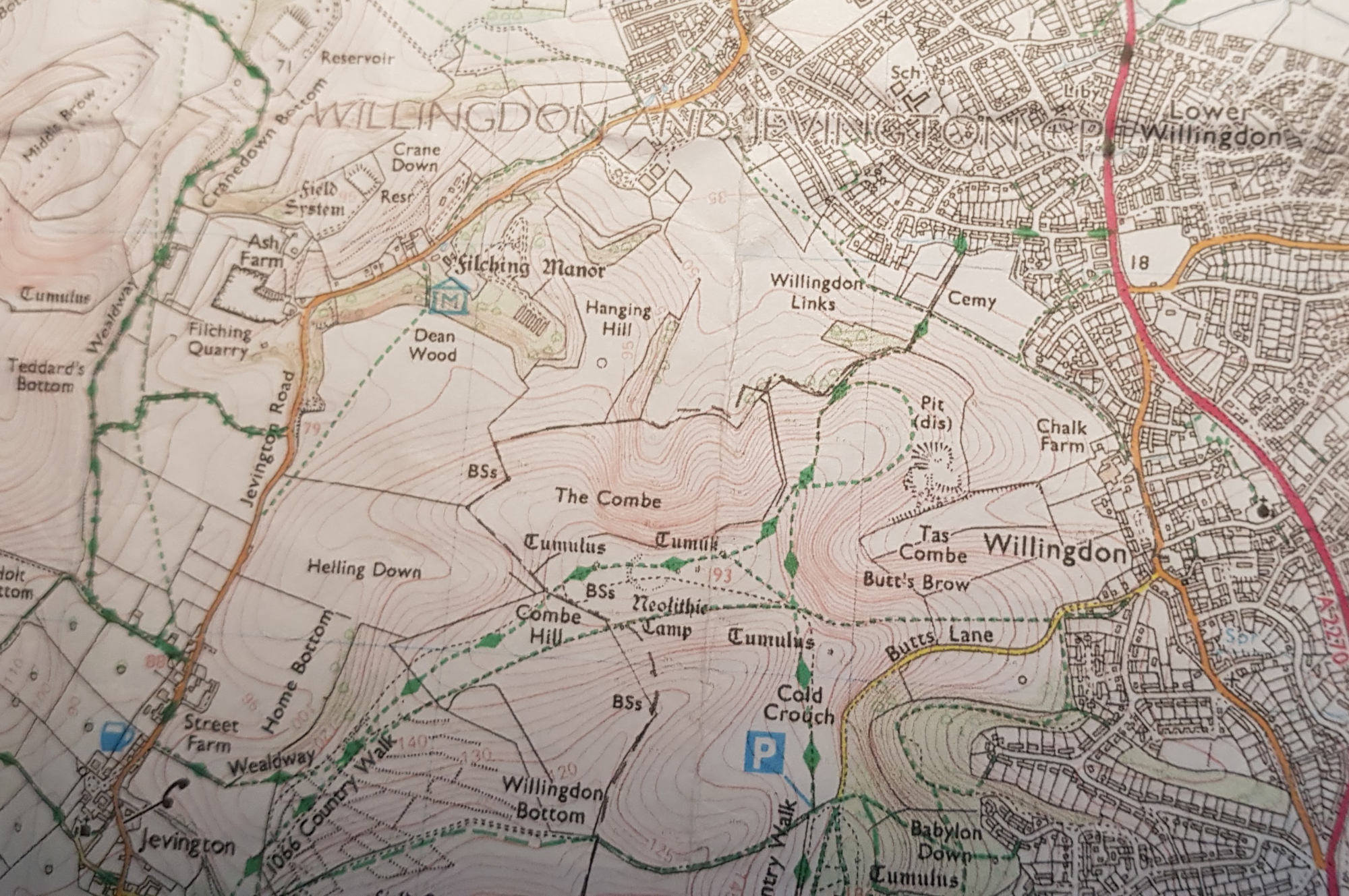 OSmap willingdon walk